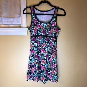 Isaac Mizrahi floral tank top dress Small